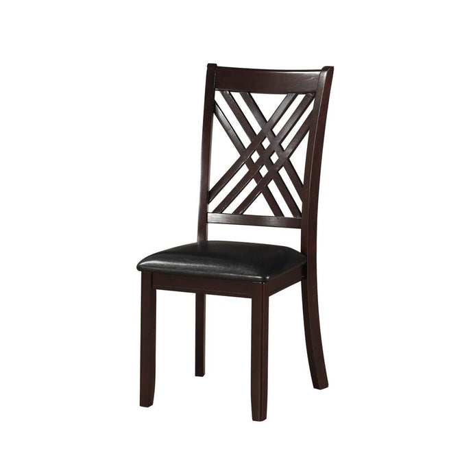Acme Katrien Black And Espresso Wood Finish 2 Piece Dining Chair