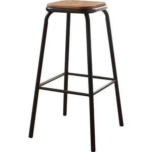 Acme Scarus Natural And Black Wood Finish 2 Piece Bar Stool