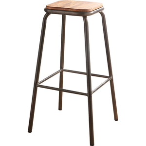 Acme Scarus Natural And Gray Wood Finish 2 Piece Bar Stool