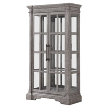 Load image into Gallery viewer, Acme 77095 Artesia Gray Wood And Glass Finish Curio Cabinet