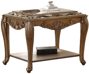 Acme 80692 Orianne Gold Wood Finish End Table