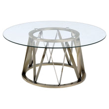 Load image into Gallery viewer, Acme 84485 Perjan Brass Glass Metal Finish Coffee Table