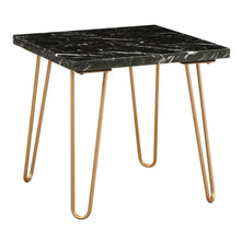 Load image into Gallery viewer, Acme 84507 Telestis Black Marble Metal Finish End Table