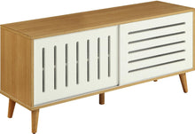 Load image into Gallery viewer, Acme 90167 Kollia Natural White Wood Finish TV Stand