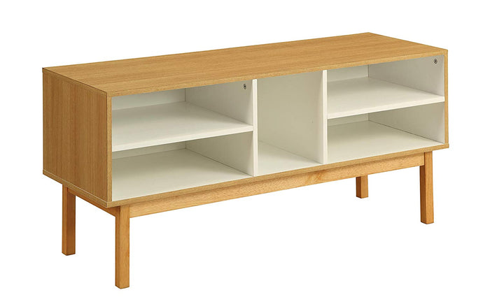 Acme 90168 Drivia Natural Wood Finish Contemporary TV Stand