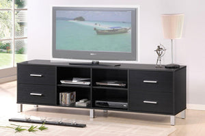 Acme 91174 Walt Black Wood Finish Contemporary TV Stand