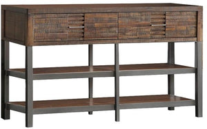 Acme 91623 Andria Oak Wood Metal Finish Industrial TV Stand