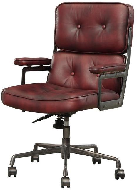 Acme 92027 Larisa Brown Leather Finish Vintage Office Chair