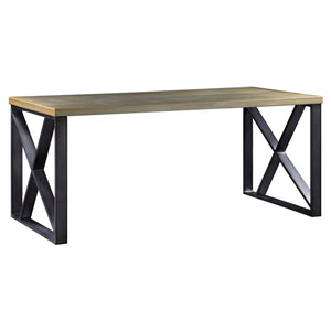 Acme 92550 Jennavieve Gold Wood Metal Finish Writing Office Desk