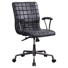 Load image into Gallery viewer, Acme 92557 Barack Black Leather Finish Industrial Office Chair