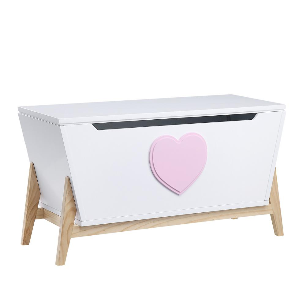 Acme 97632 Padma White And Pink Wood Finish Kids Chest