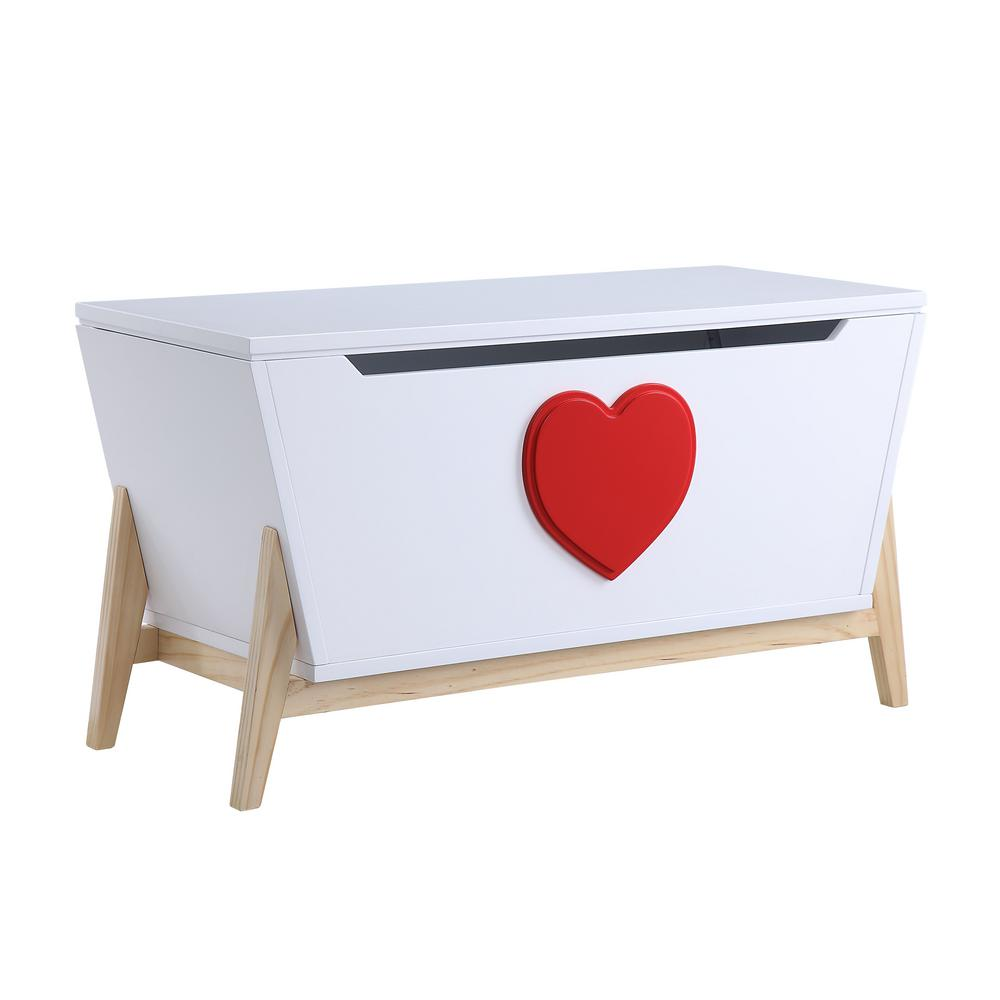 Acme 97633 Padma White And Red Wood Finish Kids Chest