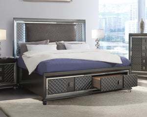 Acme Sawyer Metalic Wood Contemporary Finish Queen Bed