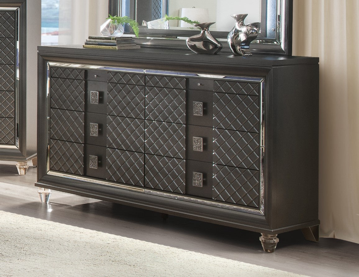 Acme Sawyer Metalic Wood Contemporary Finish Dresser