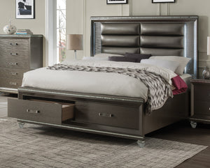 Acme Sadie Champagne Wood Contemporary Finish Queen Bed