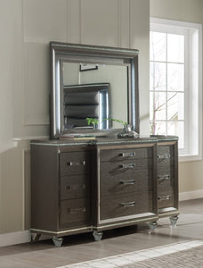 Acme Sadie Champagne Wood Finish Contemporary Dresser With Mirror