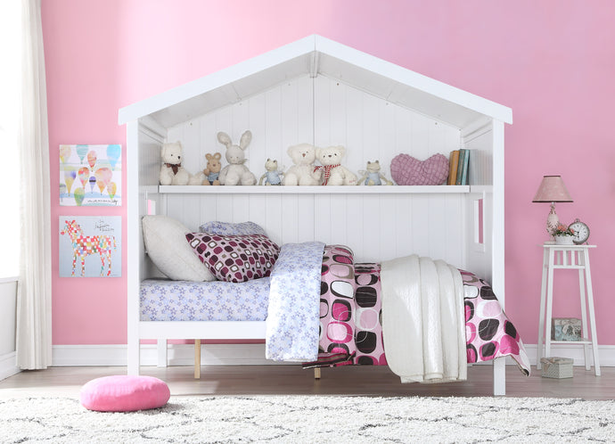 Acme Landen Cottage White Wood Finish Full Loft Bed