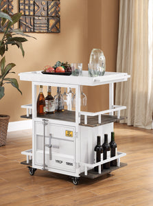 Acme Cargo White Metal Finish Service Cart