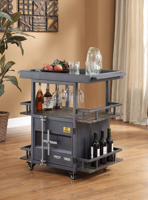 Acme Cargo Gunmetal Metal Finish Service Cart