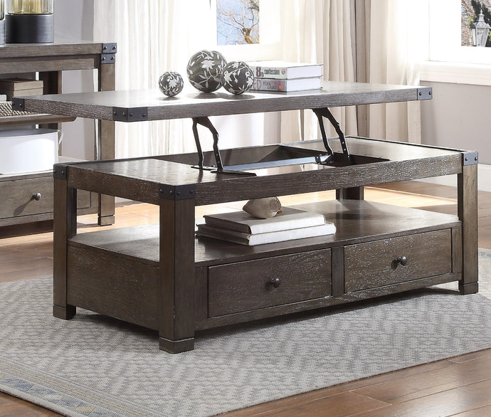 Acme Melville Dark Gray Wood Finish Coffee Table