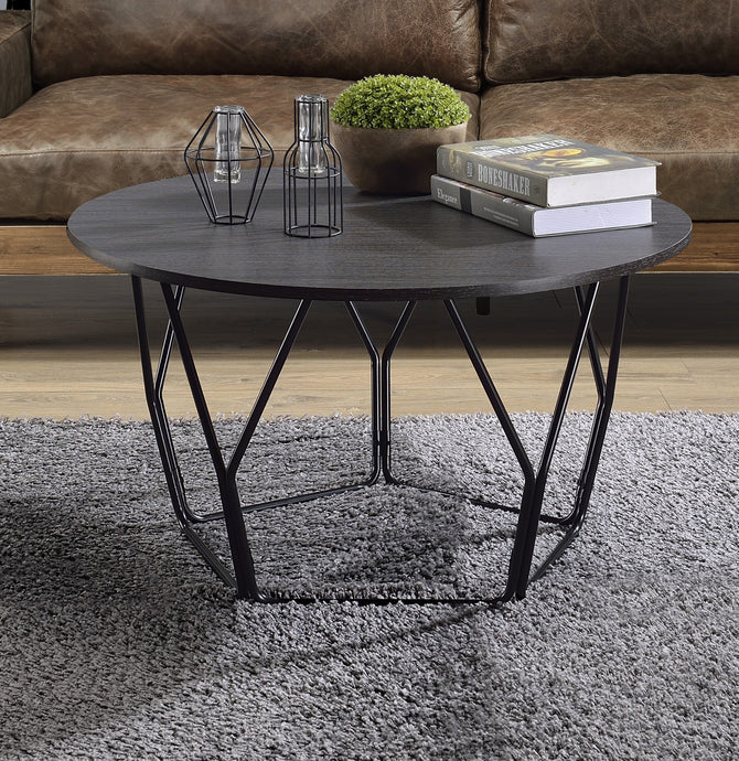 Acme Sytira Black Metal And Wood Finish Coffee Table