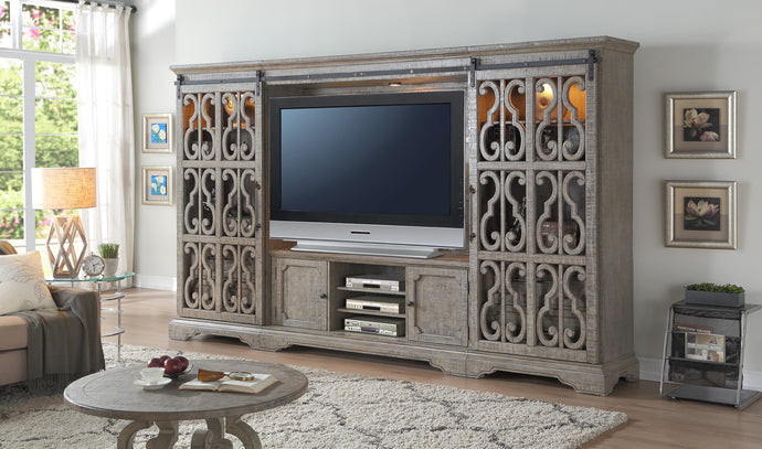 Acme Artesia Salvaged Natural Wood Finish Entertainment Center