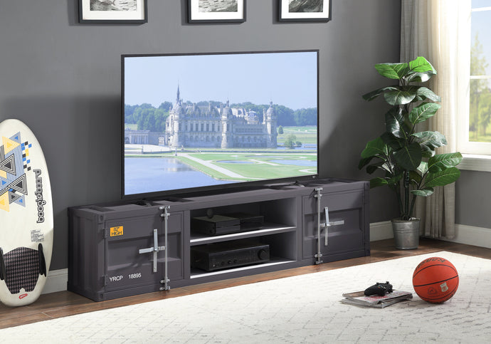 Acme Cargo Gunmetal Metal Finish TV Stand