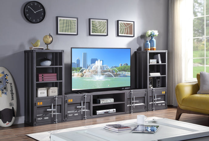 Acme Cargo Gunmetal Metal Finish Entertainment Center