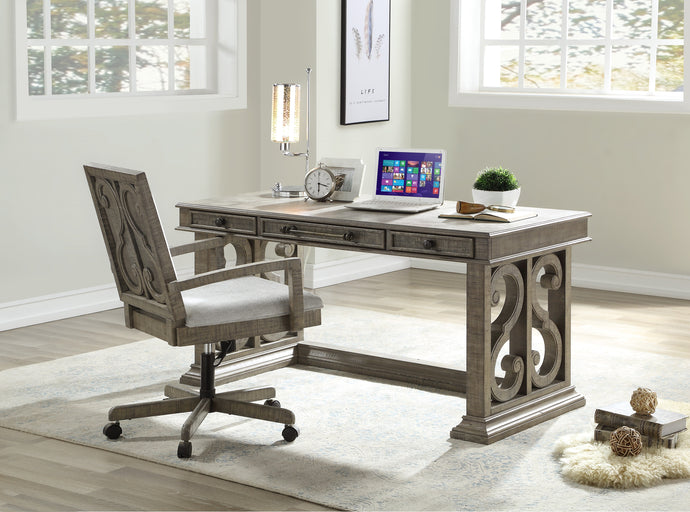 Acme Artesia Salvaged Natural Wood Finish Office Desk
