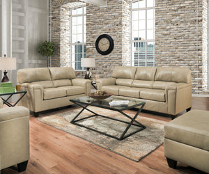 Acme Phygia Tan Grain Leather Finish 2 Piece Sofa Set