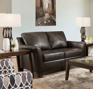 Acme Cocus Espresso Grain Leather Finish Loveseat