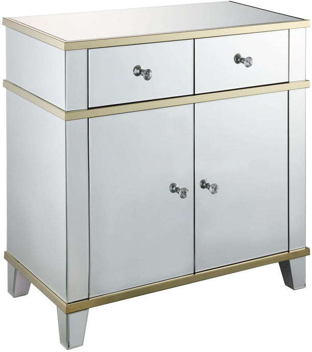 Acme Osma Clear Mirrored Finish Console Table