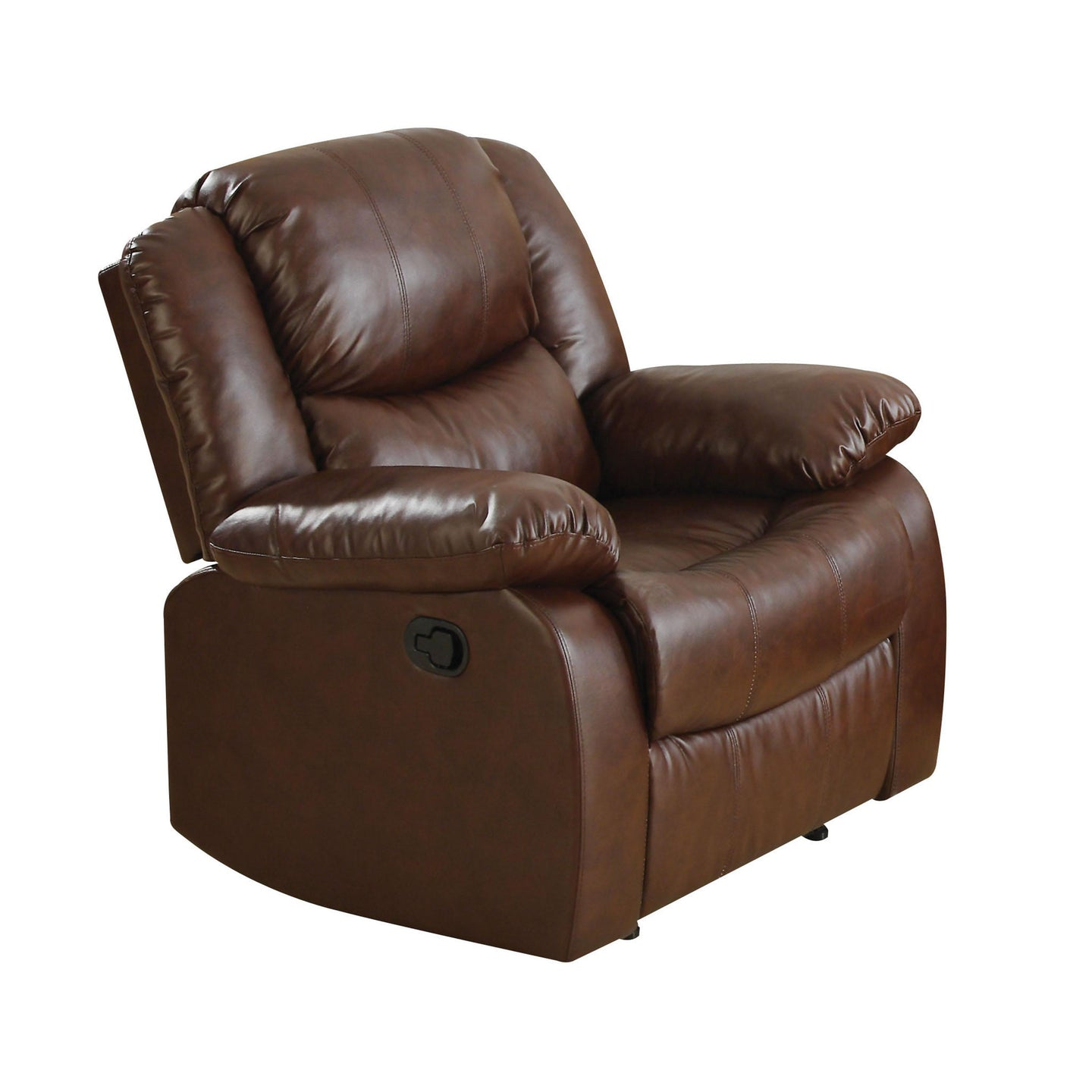 Acme Fullerton Brown Bonded Leather Finish Recliner Chair