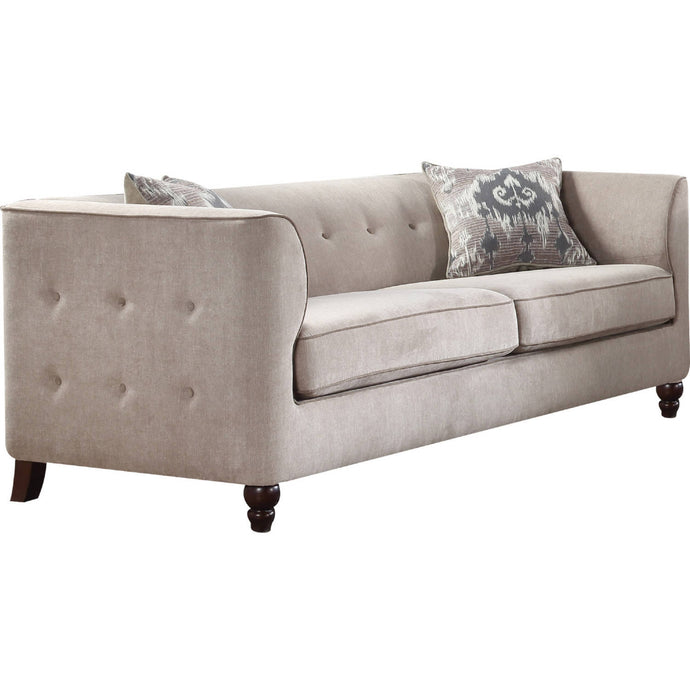 Acme Cyndi Tan Fabric Finish Traditional Sofa