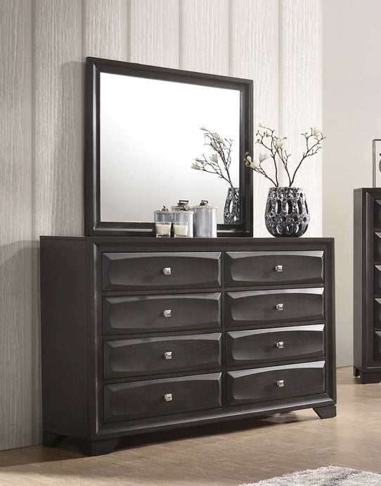 Acme Soteris Gray Wood Finish Dresser With Mirror