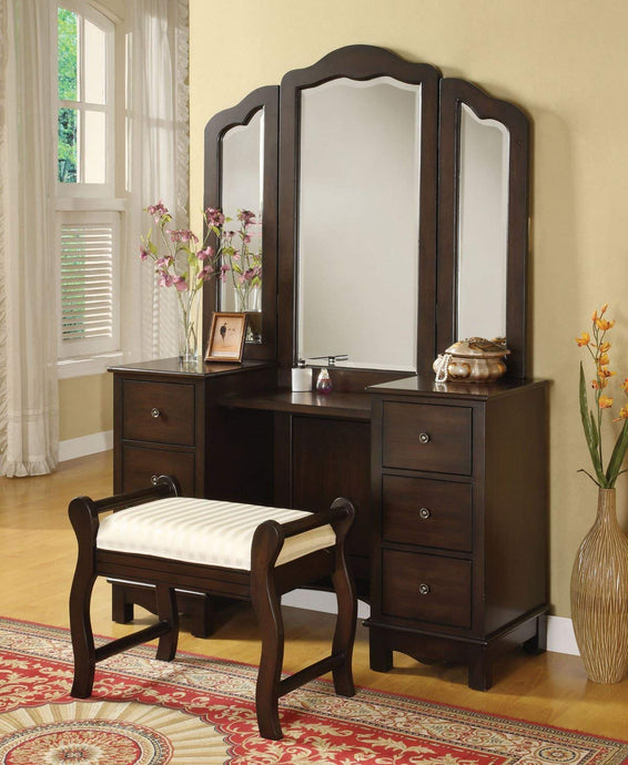 Acme Annapolis Espresso Wood Finish 3 Piece Vanity Set