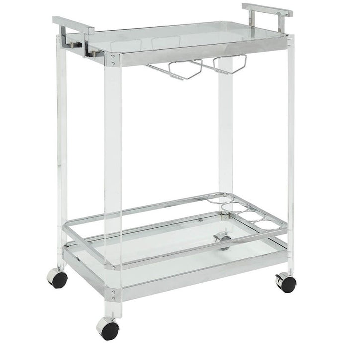 Acme Araldo Metal And Acrylic Finish Service Cart