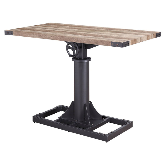 Acme Baara Natural Metal And Wood Finish Bar Table