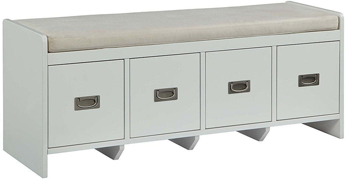 Acme Berci Beige Fabric And Wood Finish Bench