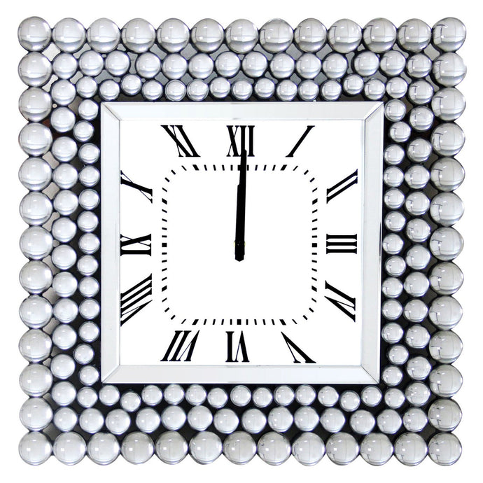 Acme Bione White Mirrored Finish Wall Clock