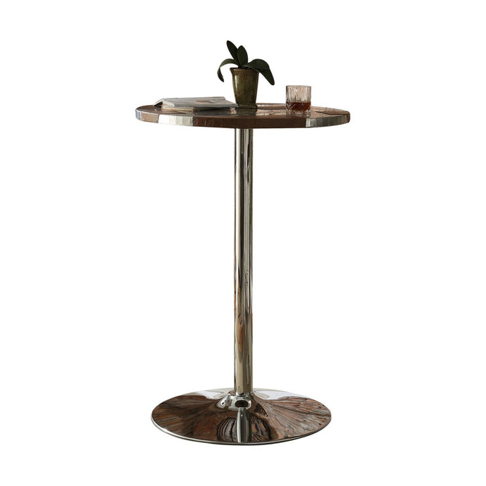 Acme Brancaster Retro Brown Aluminum Finish Bar Table