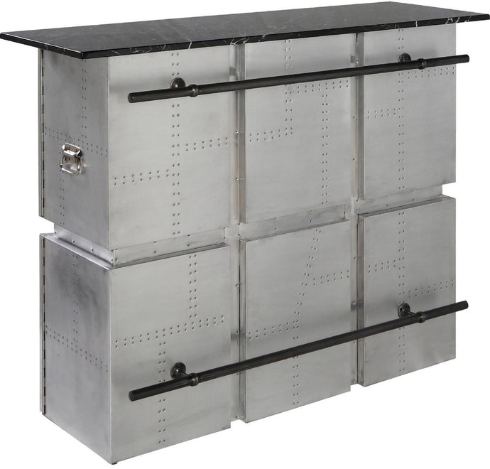 Acme Brancaster Silver Aluminum Finish Bar Table