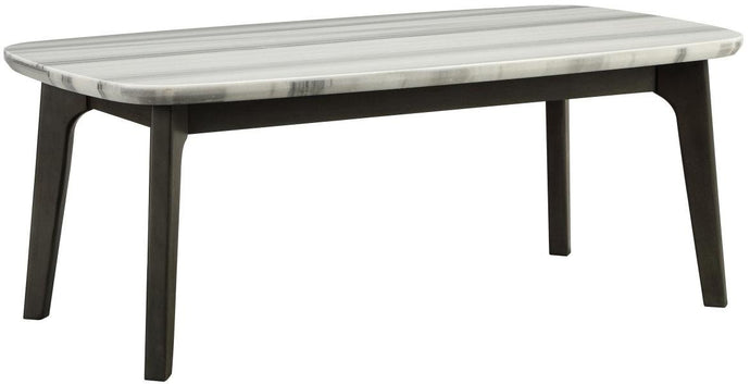 Acme Calvisia Gray Oak Wood And Marble Top Finish Coffee Table