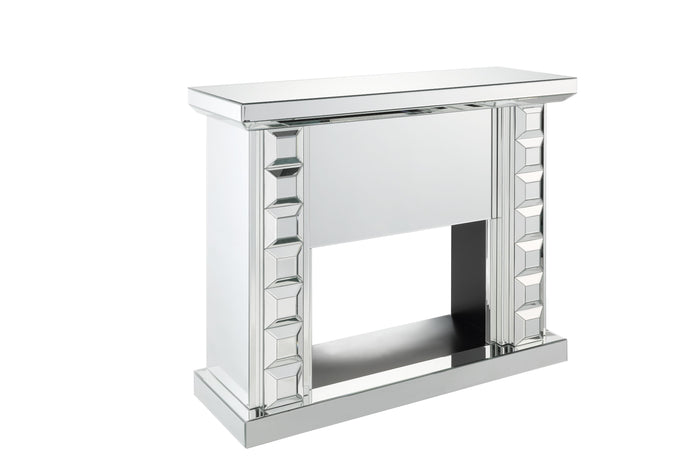 Acme Dominic Mirrored Finish Fire Place