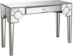 Acme Hanne Clear Mirrored Finish Console Table