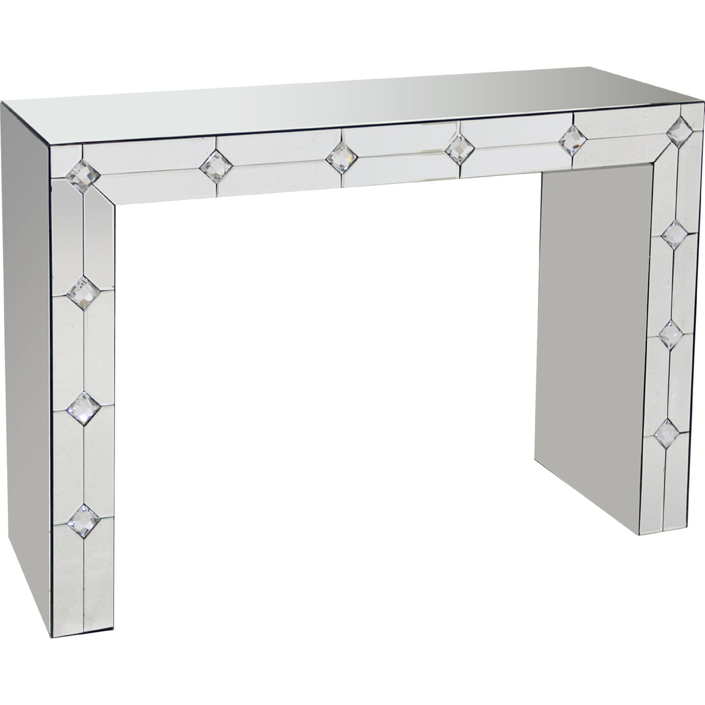 Acme Hessa Clear Mirrored Finish Console Table
