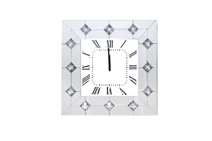 Acme Hessa Clear Mirrored Finish Wall Clock
