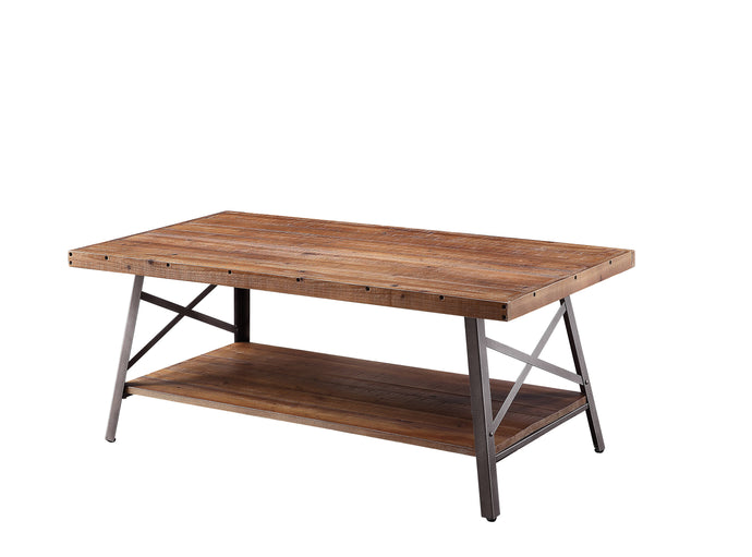 Acme Weathered Oak Wood Finish Coffee Table