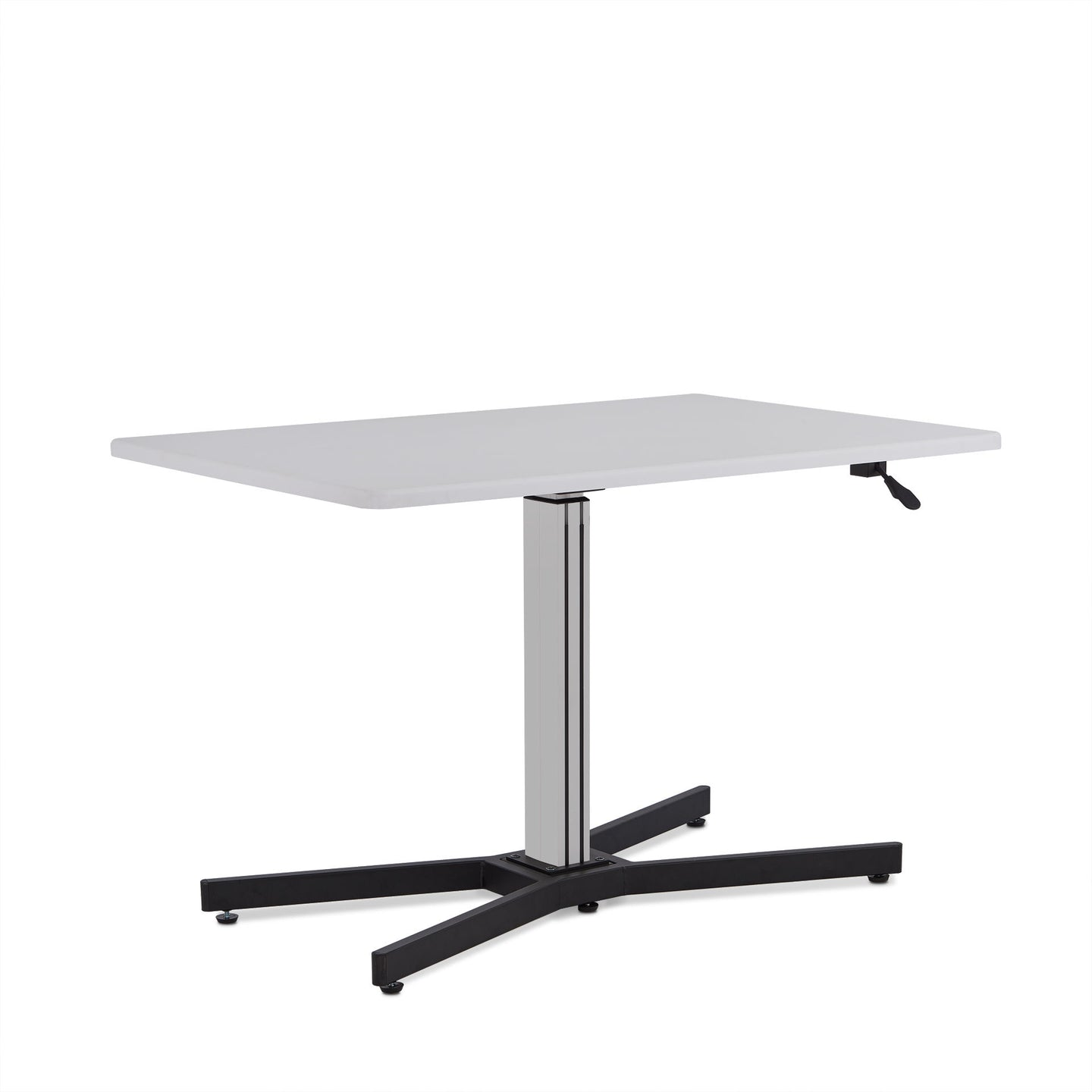 Acme Inscho White Metal Finish Writing Desk