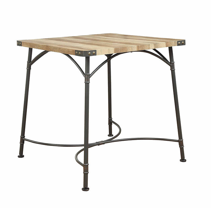 Acme Itzel Antique Oak Wood And Metal Finish Bar Table